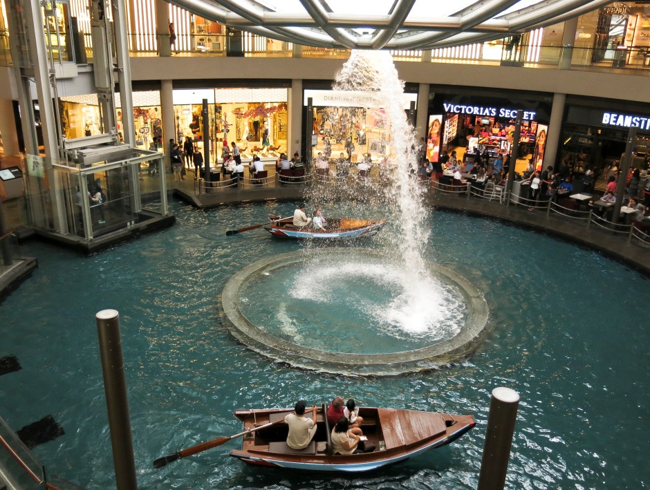Gondola rides inside The Shoppes at the Marina Bay Sands